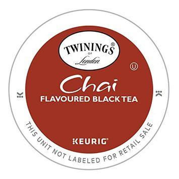 Twinings Earl Grey Tea, Keurig K-Cups, 24 Count - Chai, 24 Count (Pack of 4)