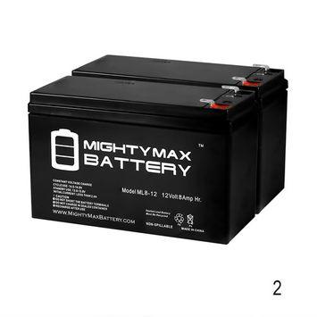 12V 8Ah GT Mini-E Scooter Battery - 2 Pack