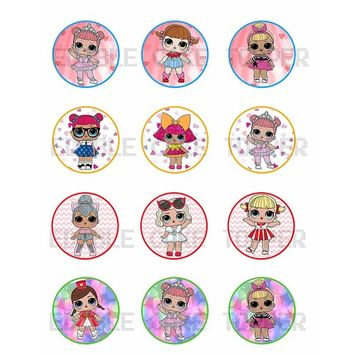 Surprise Dolls Edible Cupcake Toppers (12 Images) Cake Image Icing Sugar Sheet Edible Cake Images