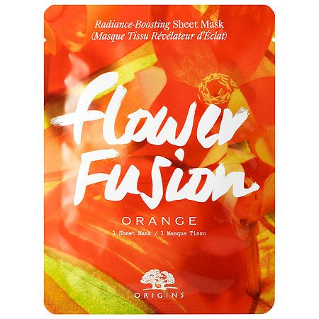 Origins Flower Fusion Orange Radiance-Boosting Sheet Mask