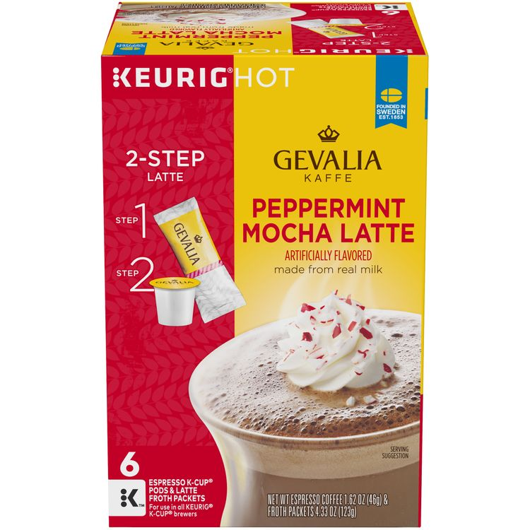 Gevalia Peppermint Mocha Latte Espresso K-Cup Packs