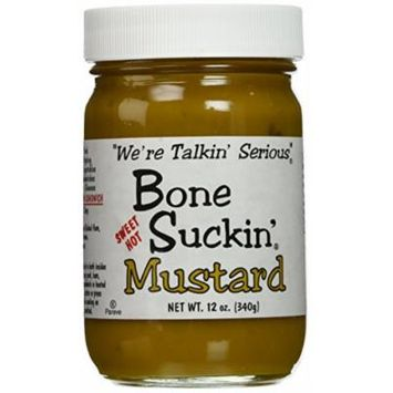 Bone Suckin' Sweet Hot Mustard 12oz (Pack of 2)