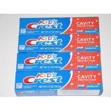 Kids Crest 2.7 Oz Toothpaste (4 Pack)
