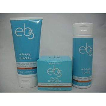 eb5 Facial Treatment 4 oz, eb5 Anti-Aging Toner 6 oz, eb5 Anti-Aging Cleanser 6 oz Combo Set