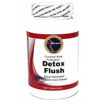 * Detox Flush * 120 capsules Extreme Body Detoxifation - Colon Cleanse - Instantly Rid Your System Of Unwanted Toxins