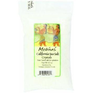 Melina's California Sea Salt Crystals, 2x12 oz Bags