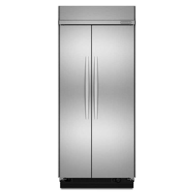 """KitchenAid Stainless Steel 42"""" Built-In Side By Side Refrigerator"""