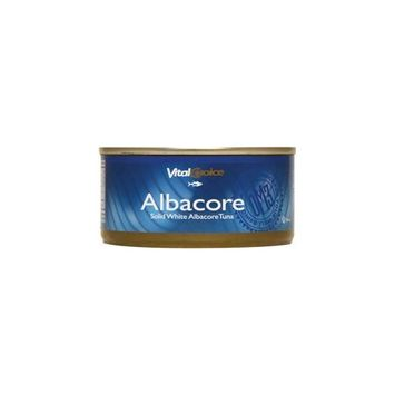 Vital Choice Albacore Tuna in Ev Organic Olive Oil 6 oz Can