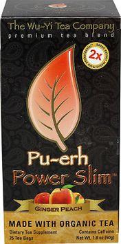 The Wu-Yi Tea Company Pu-erh Power Slim Ginger Peach - 25 Tea Bags