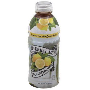 Herbal Mist Lemon Tea Made with Yerba Mate, 20 fl oz, (Pack of 12)