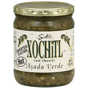 Xochitl Asada Verde Hot Salsa, 15 oz, (Pack of 6)