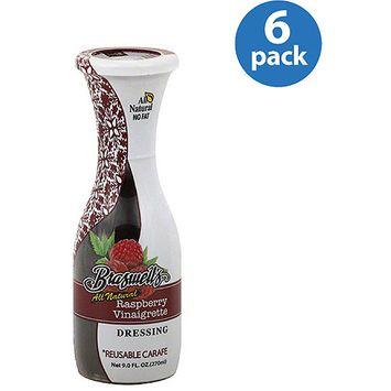 Braswell's All Natural Raspberry Vinaigrette Salad Dressing, 9 fl oz, (Pack of 6)