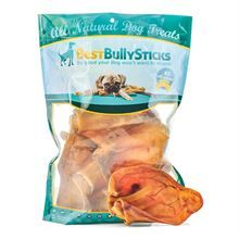 Best Bully Sticks Premium Thick Cut USA Pig Ear Dog Treats - 7 Count