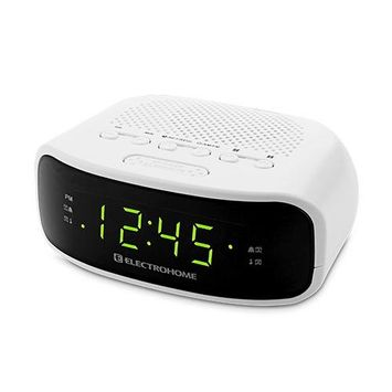 Electrohome Digital AM/FM Clock Radio with Battery Backup, Dual Alarm, Snooze