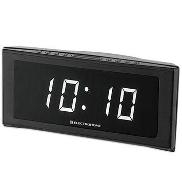 Electrohome Jumbo Alarm Clock Radio with White LEDs