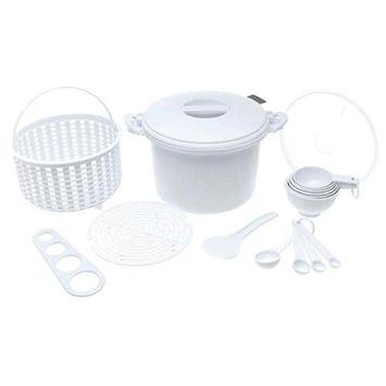 Progressive International Microwave Rice & Pasta Cooker Set