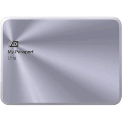 Western Digital WD My Passport Ultra Metal Edition 3TB USB 3.0 Portable Hard Drive - Silver
