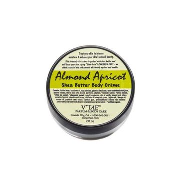 Almond Apricot Shea Butter Body Creme V'TAE Parfum and Body Care 2 oz Cream