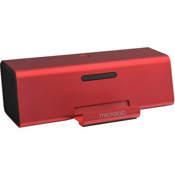 Microlab MD220 Portable Stereo Speaker, Red