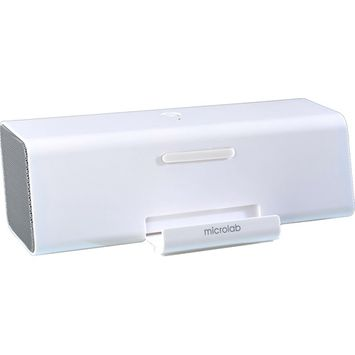 Microlab MD220 (White) Portable Stereo Speaker for Tablet, Smartphone