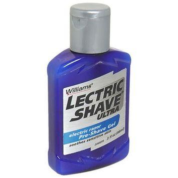 Williams Lectric Shave Electric Razor Pre-Shave Gel, Ultra - 3 fl oz