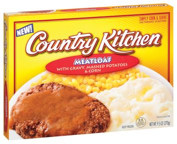 Country Kitchen W/Gravy Mashed Potatoes & Corn Meatloaf