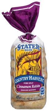 Stater Bros. Fork Split Cinnamon Raisin English Muffins 6 Ct Bag