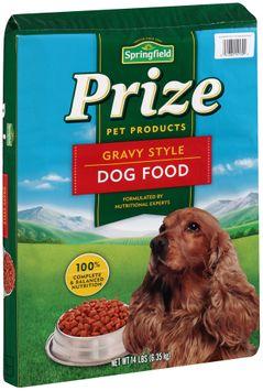 springfield® prize gravy style dog food
