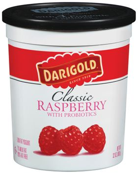 Darigold Classic Raspberry W/Probiotics Lowfat Yogurt