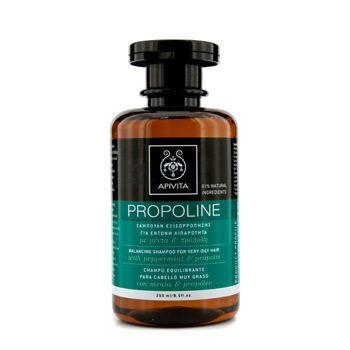 Apivita Balancing Shampoo with Peppermint & Propolis (For Very Oily Hair) 250ml/8.5oz