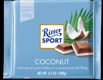 Ritter Sport Coconut Chocolate Bar