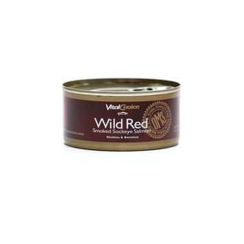 Vital Choice Wild Smoked Sockeye Salmon, 5.5 Ounce Can