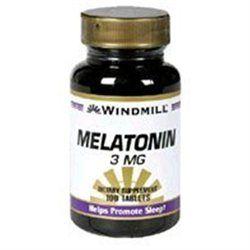 Melatonin 3 mg, 100 Tablets, Windmill Health Products