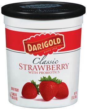 Darigold Classic Strawberry W/Probiotics Lowfat Yogurt