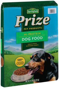 springfield® prize hi-protein dog food