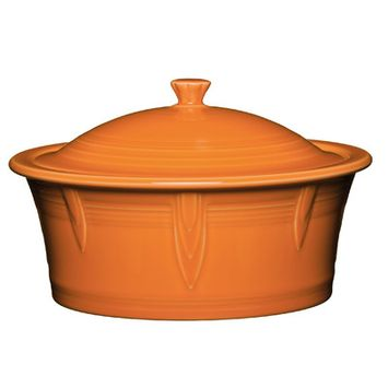 Fiesta 2.81-qt. Round Covered Casserole Color: Tangerine