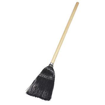 Carlisle 4168303 - Lobby Upright Broom, Wood Handle, Black Bristles