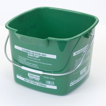 Carlisle 8 qt. Green Suds-Pail for Cleaning Solutions (12-Case) 1183309