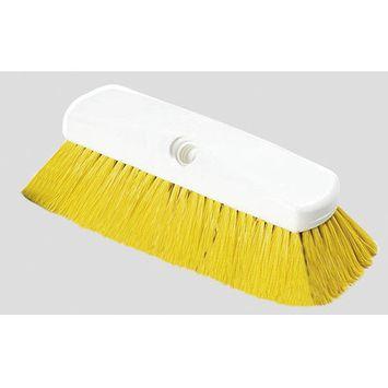 Carlisle Scrubbing Brushes 10 in. Flo-Thru Nylon Yellow Wall Brush (Case of 12) 4127804