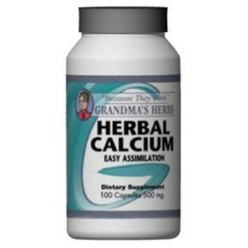 Grandma's Herbs Grandmas Herbs 500mg Herbal Calcium Supplement (100 Capsules)