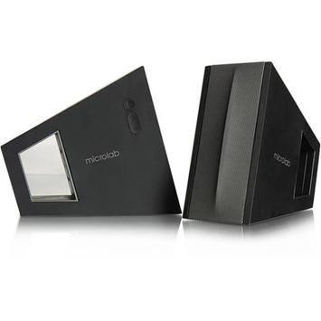 Microlab FC10 30W Compact Triangle DSP Speaker, Black