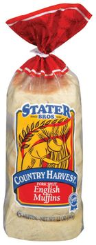 Stater Bros. Fork Split English Muffins 6 Ct Bag