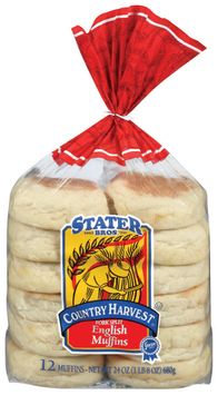 Stater Bros. Fork Split English Muffins 12 Ct Bag