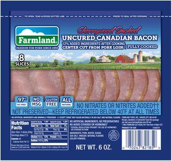 Farmland® Cherrywood Smoked Uncured Canadian Bacon