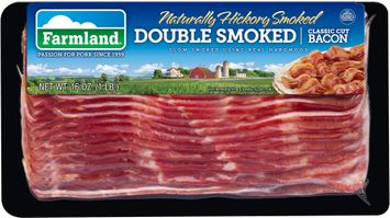 Farmland® Naturally Hickory Smoked Double Smoked Classic Cut Bacon