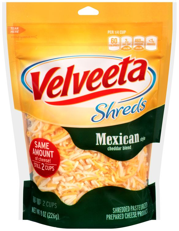 Velveeta Mexican Style Cheddar Blend Shreds