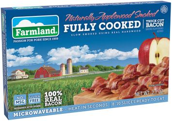 Farmland® Naturally Applewood Smoked Fully Cooked Thick Cut Bacon