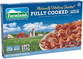Farmland® Naturally Hickory Smoked Fully Cooked Classic Cut Bacon