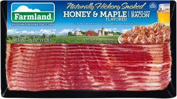 Farmland® Naturally Hickory Smoked Honey & Maple Flavored Classic Cut Bacon