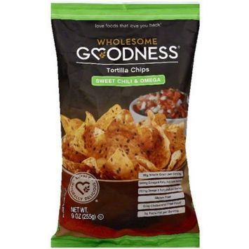 Wholesome Goodness Sweet Chili & Omega Tortilla Chips, 9 oz, (Pack of 12)